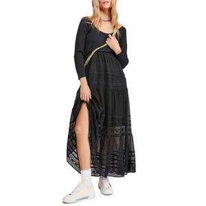 Free People Earth Angel Long Sleeve Maxi Dress M